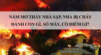 Nằm mơ thấy nhà sập, nhà bị cháy đánh con gì, số mấy, có điềm gì?